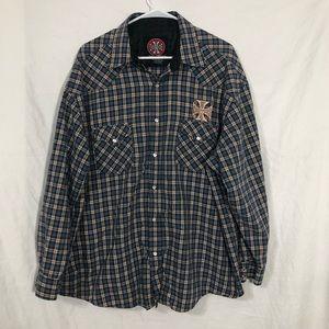 West Coast Choppers Shirts - West Coast Choppers L/S Snap Button shirt 2X